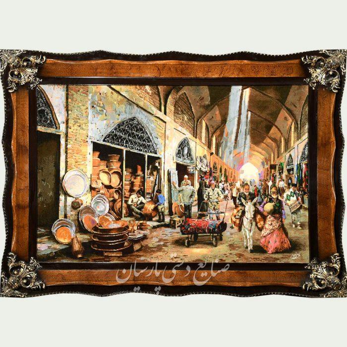 تابلو فرش بازار مسگرها