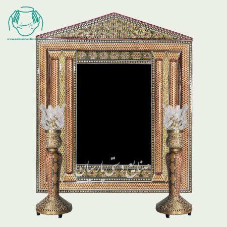 آینه خاتم کاری مدل رومی
