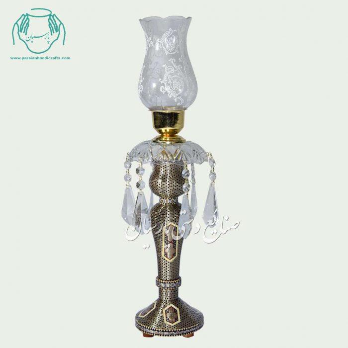 شمعدان خاتم کاری شیشی طلایی(صلیبی)