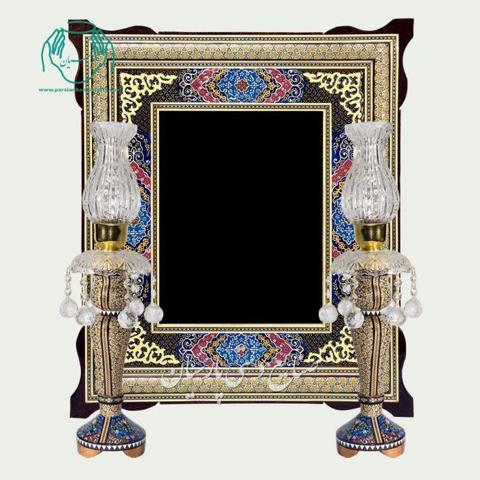 آینه خاتم کاری نقاشی تذهیب