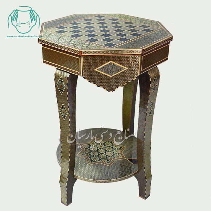 میز خاتم کاری شطرنج