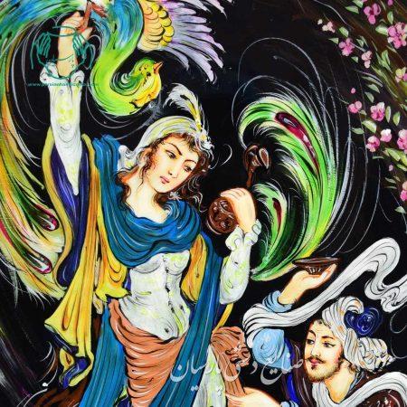 تصویر دوم تابلو نقاشی مینیاتور خاتم