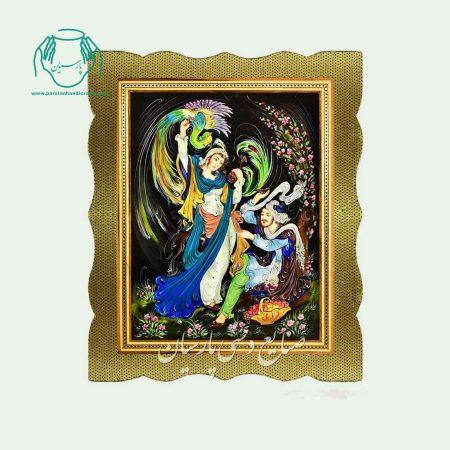 تابلو نقاشی مینیاتور خاتم
