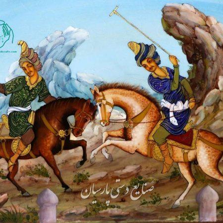 تصویر دوم تابلو نقاشی چوگان خاتم