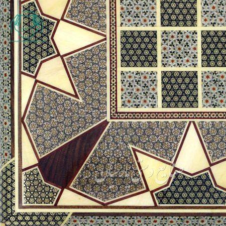 گوشه داخل تخته نرد اصفهان خاتم اعلی لب گرد