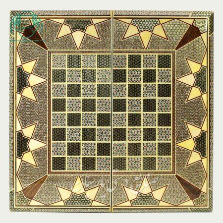 روی تخته نرد اصفهان خاتم اعلی لب گرد