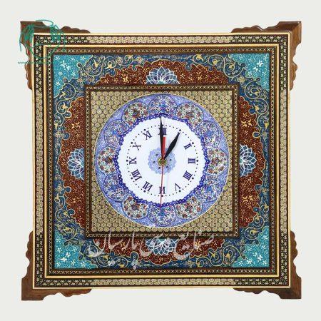 ساعت قاب خاتم اصفهان نقاشی سایز 20