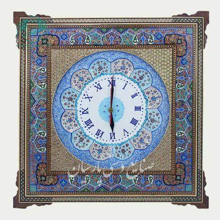 قاب خاتم نقاشی اصفهان ساعت سایز 30 نقاشی تذهیب
