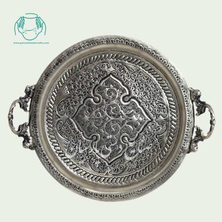 سینی سرویس شراب خوری اصفهان قلمزنی آب نقره