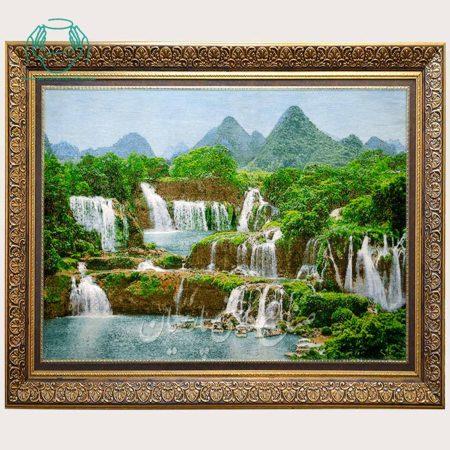 تابلو فرش آبشار عرضی دستباف تبریز