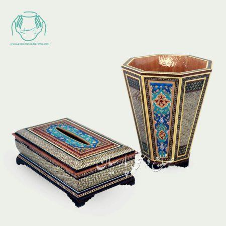 سطل جا دستمال خاتم نقاشی تذهیب